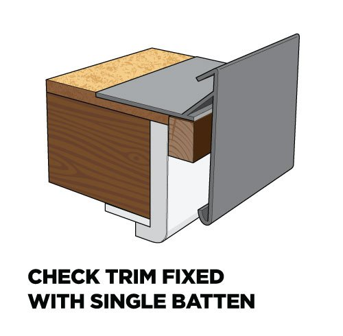 Check Trim 100mm Face X 60mm Fixing Arm