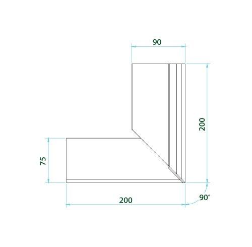 70mm Drip Trim/ 100mm Check Trim Combo Corner