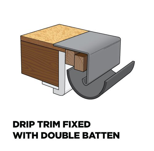 Drip trim 70mm Face x 75mm Fixing Arm
