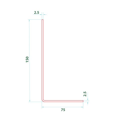 Abutment Trim 150mm X 75mm