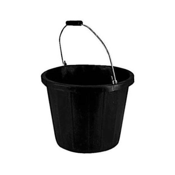 3 Gallon Black Plastic Bucket