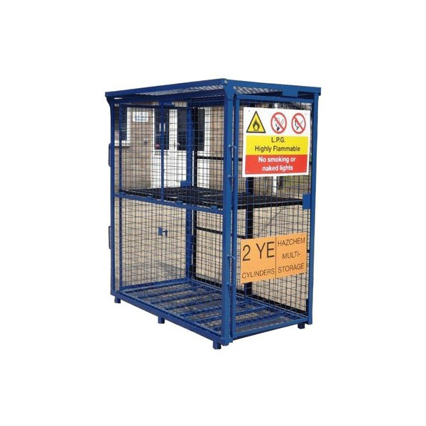 Folding Gas Cylinder Storage Cage