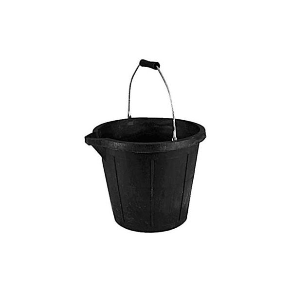 3 Gallon Heavy Duty Rubber  V Lipped Bucket
